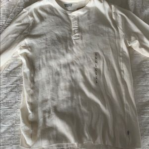 Levi's white Henley long sleeve